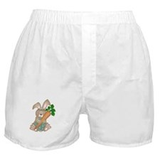 Cute Rabbit With Carrot Boxer Shorts