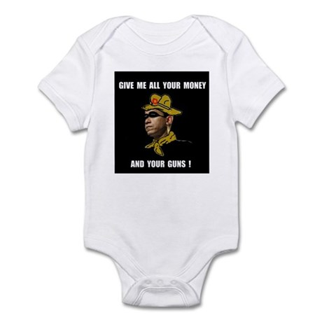 HERE COMES THE ROBBER Infant Bodysuit