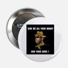 """HERE COMES THE ROBBER 2.25"""" Button"""