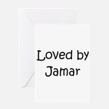 Cute Jamar name Greeting Card