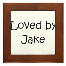 Cute Jake Framed Tile