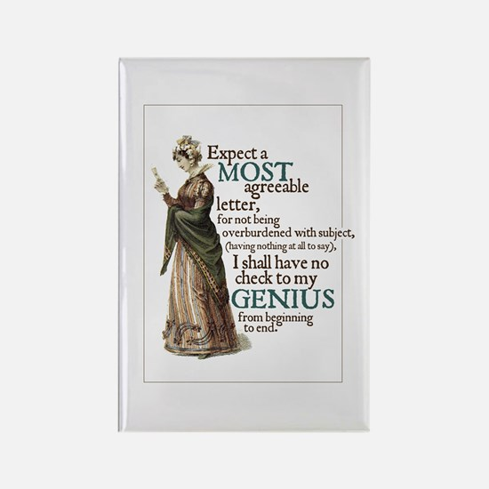 Jane Austen Genius Rectangle Magnet