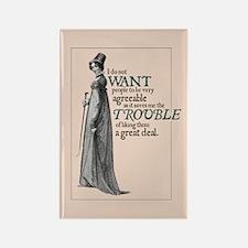 Jane Austen Trouble Rectangle Magnet