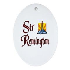 Sir Remington Oval Ornament
