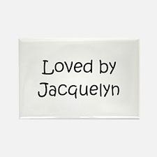 Unique Jacquelyn Rectangle Magnet