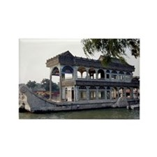 Marble Boat Rectangle Magnet