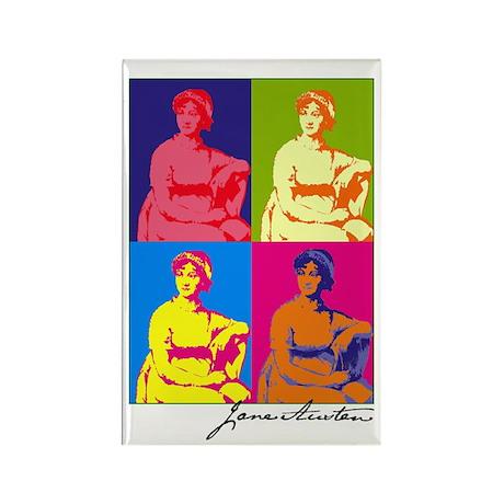 Jane Austen Pop Art Rectangle Magnet