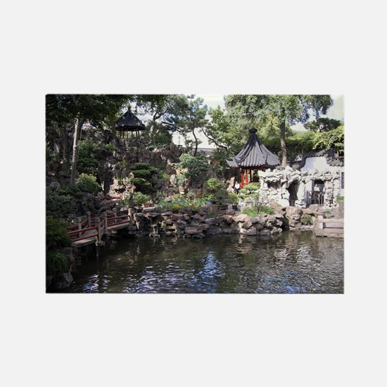 Chinese Garden 2 Rectangle Magnet