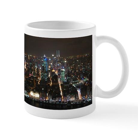 Shanghai Night Skyline Mug