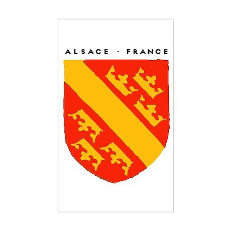 ALSACE - SHIELD Rectangle Sticker
