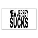 New Jersey Sucks Rectangle Sticker