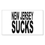 New Jersey Sucks Rectangle Sticker 10 pk)