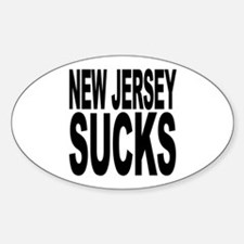 New Jersey Sucks Oval Decal