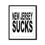 New Jersey Sucks Framed Panel Print