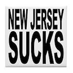 New Jersey Sucks Tile Coaster