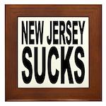 New Jersey Sucks Framed Tile