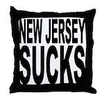 New Jersey Sucks Throw Pillow