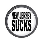 New Jersey Sucks Wall Clock