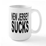 New Jersey Sucks Large Mug