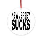 New Jersey Sucks Ornament (Round)