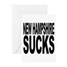 New Hampshire Sucks Greeting Cards (Pk of 10)