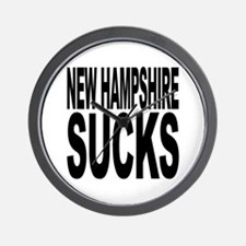 New Hampshire Sucks Wall Clock