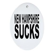New Hampshire Sucks Oval Ornament