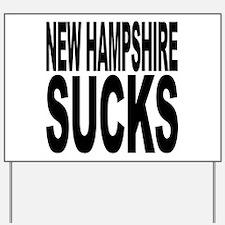 New Hampshire Sucks Yard Sign
