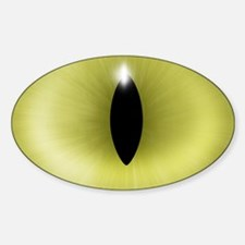 Cat's Yellow Eye Oval Decal