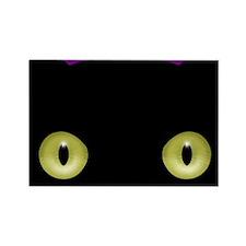 Staring Halloween Cat Rectangle Magnet