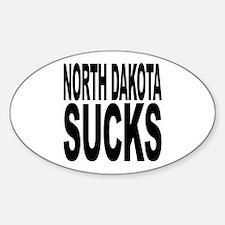 North Dakota Sucks Oval Decal