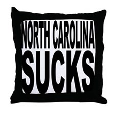 North Carolina Sucks Throw Pillow