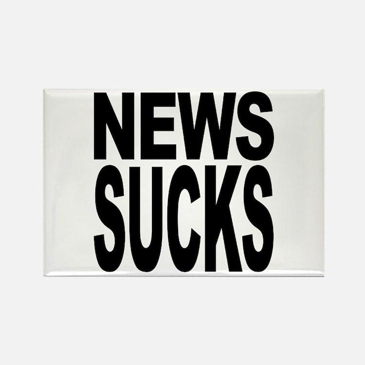 News Sucks Rectangle Magnet (100 pack)