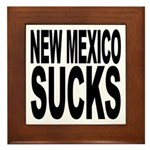 New Mexico Sucks Framed Tile