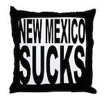 New Mexico Sucks Throw Pillow