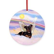 Min Pin Angel Keepsake (Round)