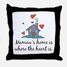 Mamaw's Home is Where the Heart Is Throw Pillow