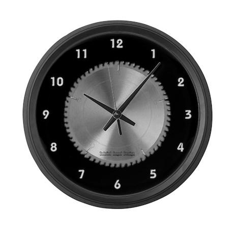 Saw Blade Large Wall Clock
