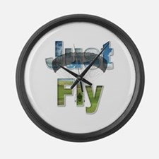 Just Fly Powered Parachute Large Wall Clock