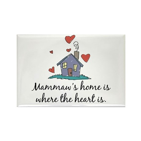 Mammaw's Home is Where the Heart Is Rectangle Magn