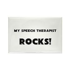 MY Speech Therapist ROCKS! Rectangle Magnet