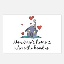 MawMaw's Home is Where the Heart Is Postcards (Pac