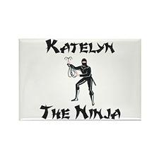 Katelyn - The Ninja Rectangle Magnet