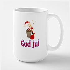 God Jul Santa Chimney Mug