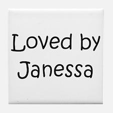Cute Janessa Tile Coaster