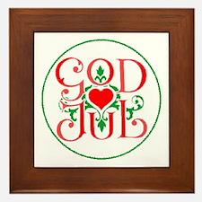 God Jul Framed Tile