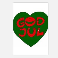 God Jul Heart Postcards (Package of 8)