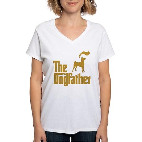 Basenji Women's V-Neck T-Shirt