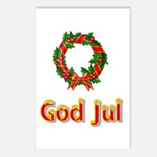 God Jul Wreath Postcards (Package of 8)