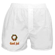 God Jul Wreath Boxer Shorts